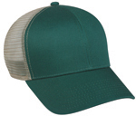 6 Panel Structured Mesh Back Cotton Twill